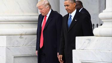 President Trump and Barack Obama.