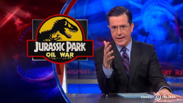 Stephen Colbert makes analyzing the pros and cons of cheap gas surprisingly entertaining