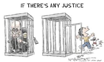 Political Cartoon U.S. Stephen Miller migrant children