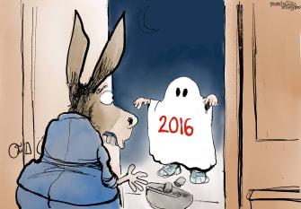 Political Cartoon U.S. Democrats 2016 Trump