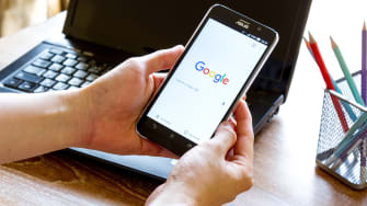 Google search on phone.