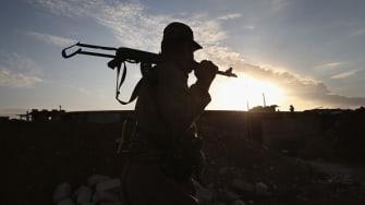 A Kurdish peshmerga soldier.
