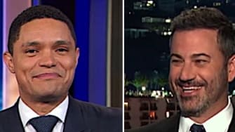 Jimmy Kimmel, Jimmy Fallon, and Trevor Noah say goodbye to Sarah Huckabee Sanders