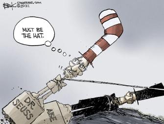 Editorial Cartoon U.S. dr seuss lincoln