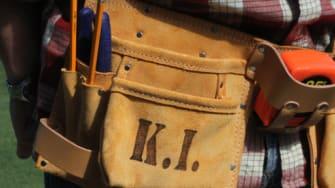 Engraved tool belt