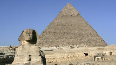 The Egyptian pyramids.
