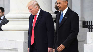 Presidents Trump and Obama