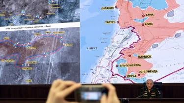 A map of proposed de-escalation zones in Syria