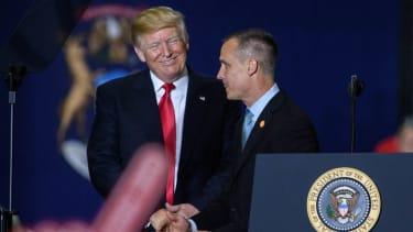 Donald Trump and Corey Lewandowski.