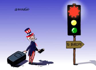Editorial Cartoon U.S. Europe coronavirus travel ban