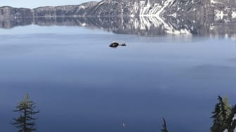 A 2017 file photo showing a rescue at Crater Lake in Oregon.