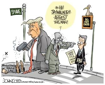 Political Cartoon U.S. FISA Court Donald Trump FBI