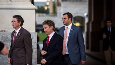 Rep. Justin Amash with Rep. Thomas Massie and Sen. Rand Paul
