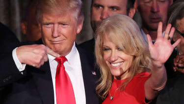 Kellyanne Conway and President Trump.