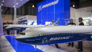 A model of a Boeing plane