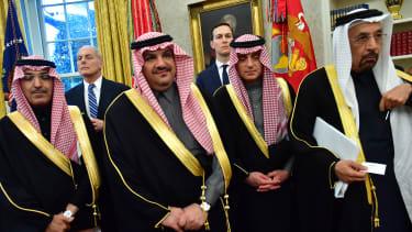 Jared Kushner with Saudi Delegation.
