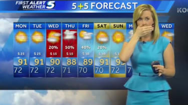 Watch this Oklahoma City meteorologist get shaken by an earthquake on live TV