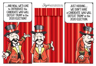 Political Cartoon U.S. Trump Democrats 2020