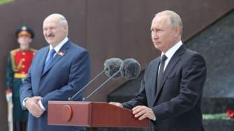 Vladimir Putin and Alexander Lukashenko.