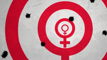 The female symbol as a target.