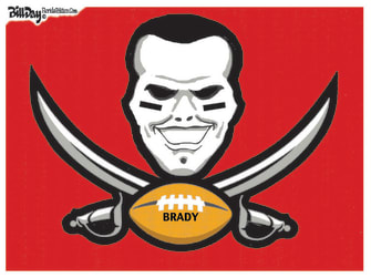 Editorial Cartoon U.S. tom brady super bowl buccaneers