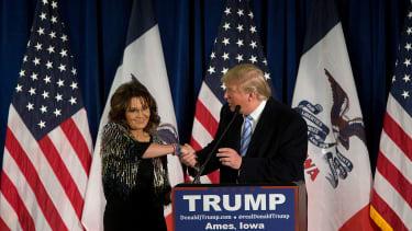 President Trump and Sarah Palin.