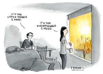 Editorial Cartoon U.S. covid normalcy