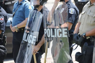 Police near St. Louis, Missouri