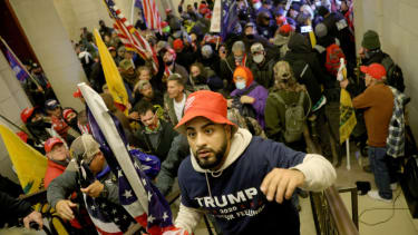 Members of the pro-Trump mob at the Capitol.