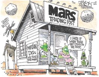Editorial Cartoon U.S. nasa mars ingenuity