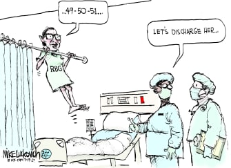 Political Cartoon U.S. Ruth Bader Ginsburg hospitalized