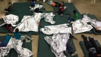 Children in a detention center.