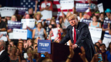 Donald Trump campaigns in Arizona during the 2016 election.