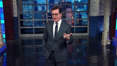Stephen Colbert cracks pee jokes
