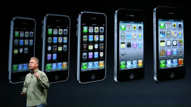Apple's marketing chief Phil Schiller introduces the iPhone 5 in October 2012.