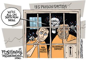 Editorial Cartoon U.S. Coronavirus prisons