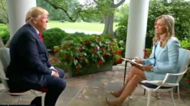 Trump and Ainsley Earhardt.