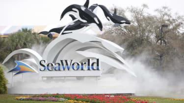 The entrance to SeaWorld in Orlando.