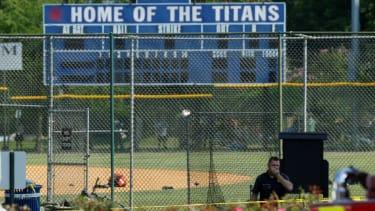 Alexandria baseball field where a gunman open fired on GOP congressmen.