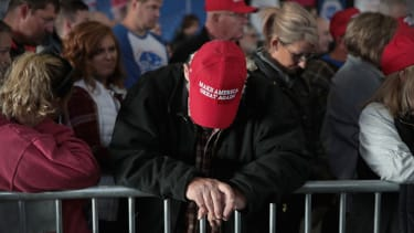 Trump supporters at a rally in Pennsylvania.