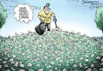 Editorial Cartoon U.S. earth day covid