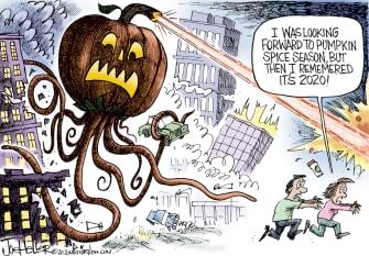 Editorial Cartoon U.S. pumpkin spice 2020