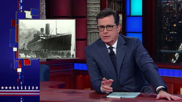 Stephen Colbert tackles the mystery of the Titanic, with a cartoon