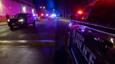 Law enforcement at scene of shooting in Wisconsin.