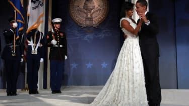 President Obama and First Lady Michelle dance during an inaugural ball in 2009. This year, there'll be fewer dances like these.