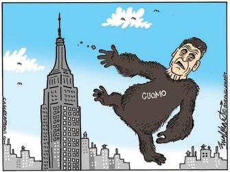 Political Cartoon U.S. cuomo sexual harassment king kong