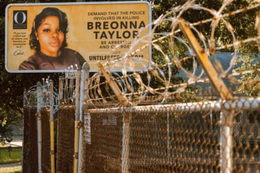 A billboard calling for justice for Breonna Taylor.
