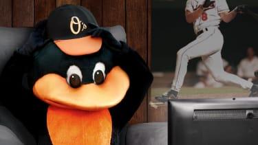 The Orioles mascot.