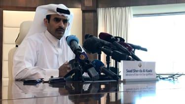 Saad Sherida Al-Kaabi, Qatari minister of state for energy affairs, speaks in Doha