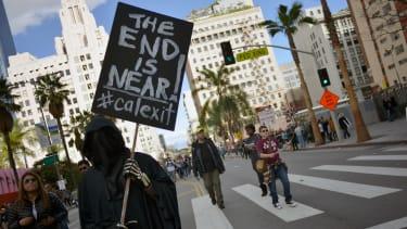 Calexit protest in California.